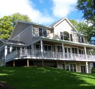 Charlevoix Cottage Rear Exterior Elevation.