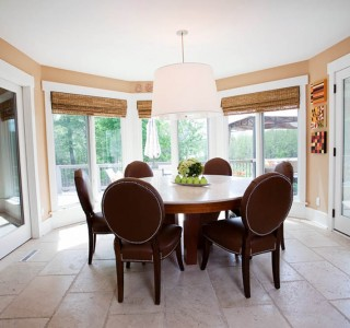 Deer Lake Renovation Casual Dining area.