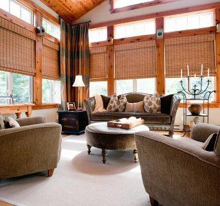 Deer Lake Renovation Sunroom design and furnishing detail.