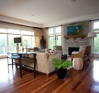 Deer Lake Renovation Living Room.